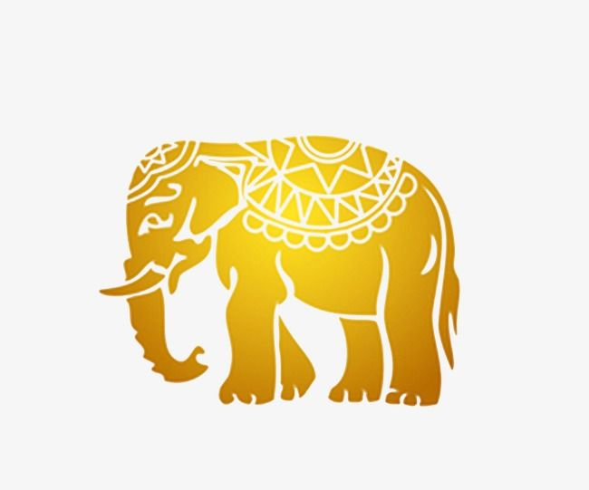 Thailand Elephant Gold Material Png Transparent Clipart Image And Psd File For Free Download Elephant Thailand Elephants Gold Material