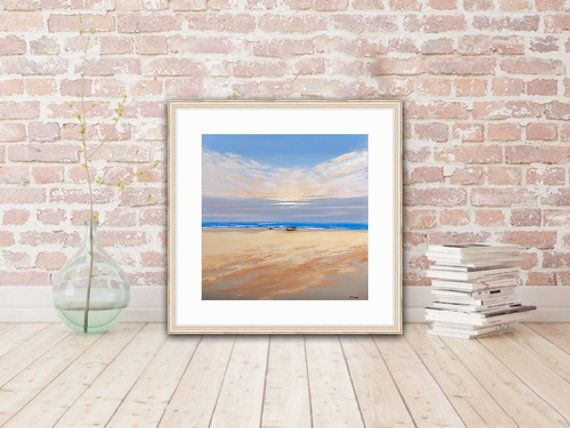 Seascape Art Print Original Art Print Sea Landscape by MaritimArt