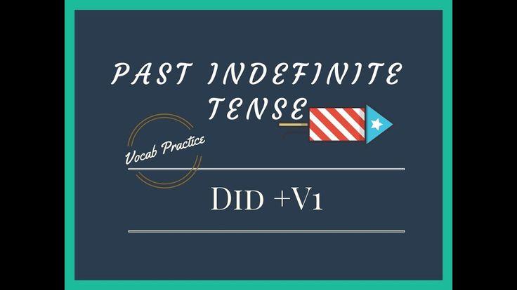 Past indefinite Tense