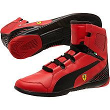 puma scuderia ferrari red ankle shoes