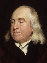 Jeremy Bentham ( /ˈbɛnθəm/; 15 February 1748 – 6 June 1832) was an English author, jurist, philosopher, and legal and social reformer. He became a leading theorist in Anglo-American philosophy of law, and a political radical whose ideas influenced the development of welfarism. He is best known for his advocacy of utilitarianism and animal rights.