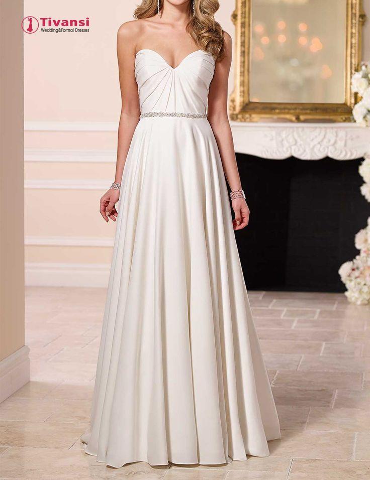 Tivansi Vestidos De Novia Sweetheart Satin A-line Wedding Dresses Bridal Gowns with Beaded Belt TWD22 - http://www.99bones.com/?products=tivansi-vestidos-de-novia-sweetheart-satin-a-line-wedding-dresses-bridal-gowns-with-beaded-belt-twd22 - http://g03.a.alicdn.com/kf/HTB1UvtUJXXXXXbWXFXXq6xXFXXXZ/201788071/HTB1UvtUJXXXXXbWXFXXq6xXFXXXZ.jpg?size=180148&height=1300&width=1000&hash=dcb95fb6c3041a84f6bab2b955db82ff -