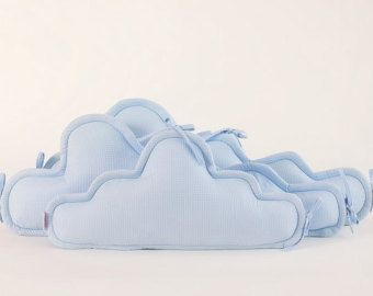clouds Crib bumper baby crib bumper Clouds pillows baby cot