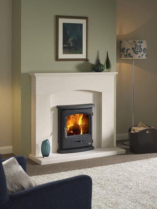 The 5kw Tiger Insert stove is an ideal stove for small room with an existing fireplace. This model has convection chambers around the stove to help distrubute the warm air into the room.