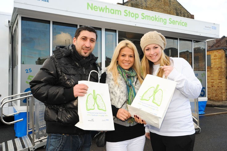 "NHS NEWHAM - ""We are delighted with the results of our mobile campaign. This direct approach helped us to engage with hard-to-reach groups and to encourage more people to take advantage of our comprehensive Stop Smoking service.""  Liz Hughes,  Stop Smoking Programme Manager, NHS Newham"