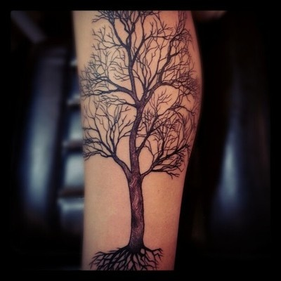 tree tattoo detail