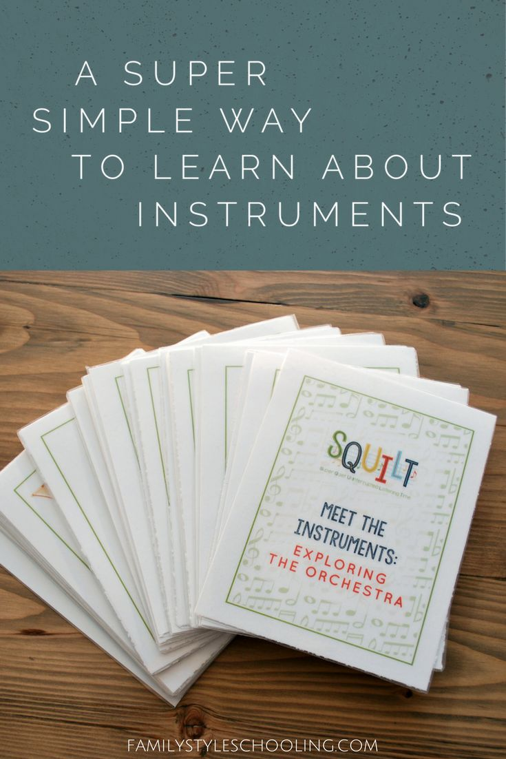 A Super Simple Way to Learn About Instruments via @famstyleschool6