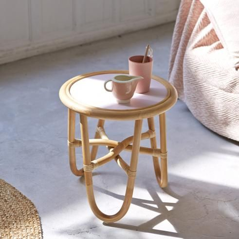 Leontie Rattan Side Table 40