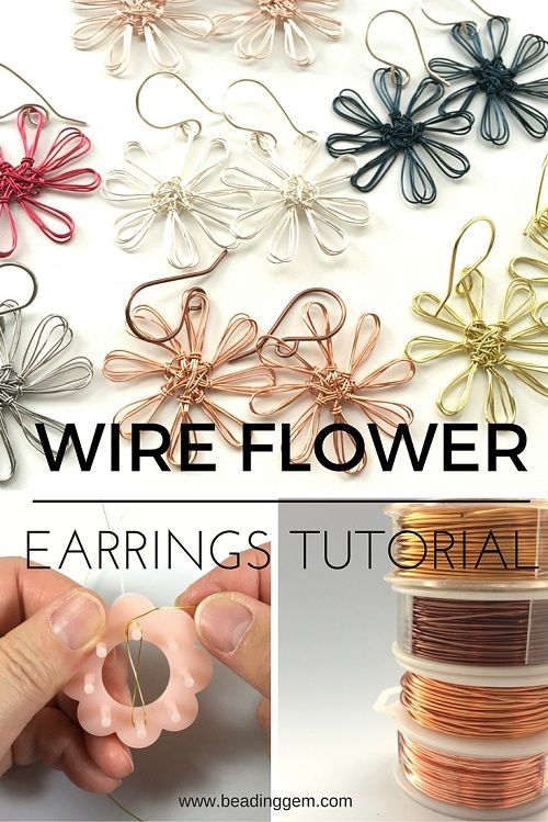 How to Make Wire Flower Earrings Using a Mini Flower Loom