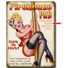 Firehouse Pub Wood or Metal Personalized Sign