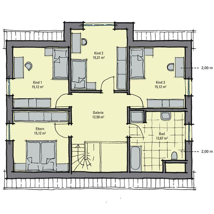 Fertighaus Kiefernallee - Variante 1 - Dachgeschoss