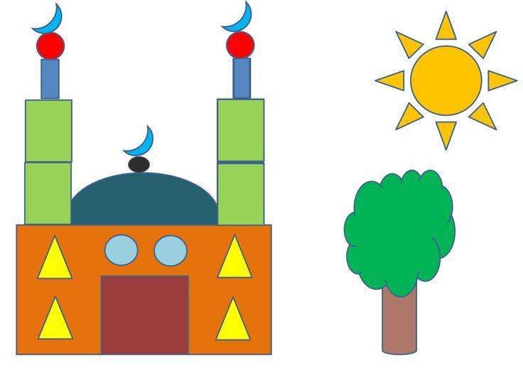 Assalam aleykoum ! Je vous propose une petite activité toute simple, pour travailler les formes avec vos enfants… Il vous suffit d'imprimer les documents,ici, et de découper les formes.…