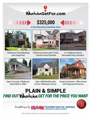 What You Can Get For 325K RE/MAX Escarpment. Click for details on listings.