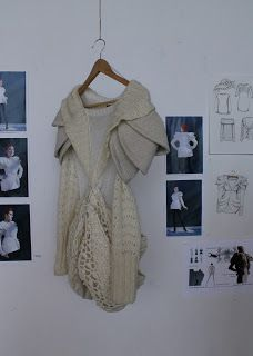 Stay warm, be cool. Knitted queen bee dress on display