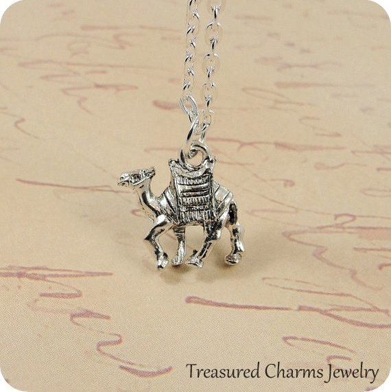 Hey, I found this really awesome Etsy listing at https://www.etsy.com/listing/121732345/camel-necklace-silver-camel-charm-on-a