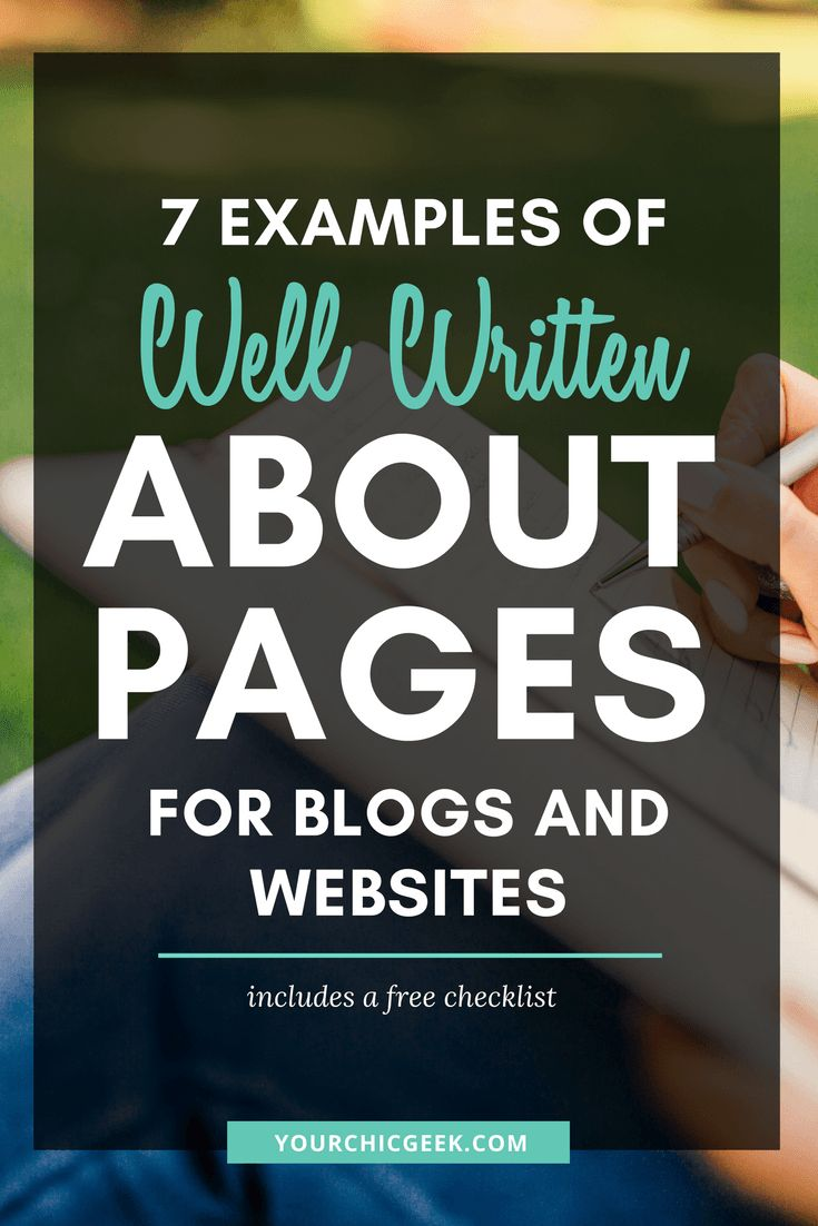 7 Examples of Well Written About Pages