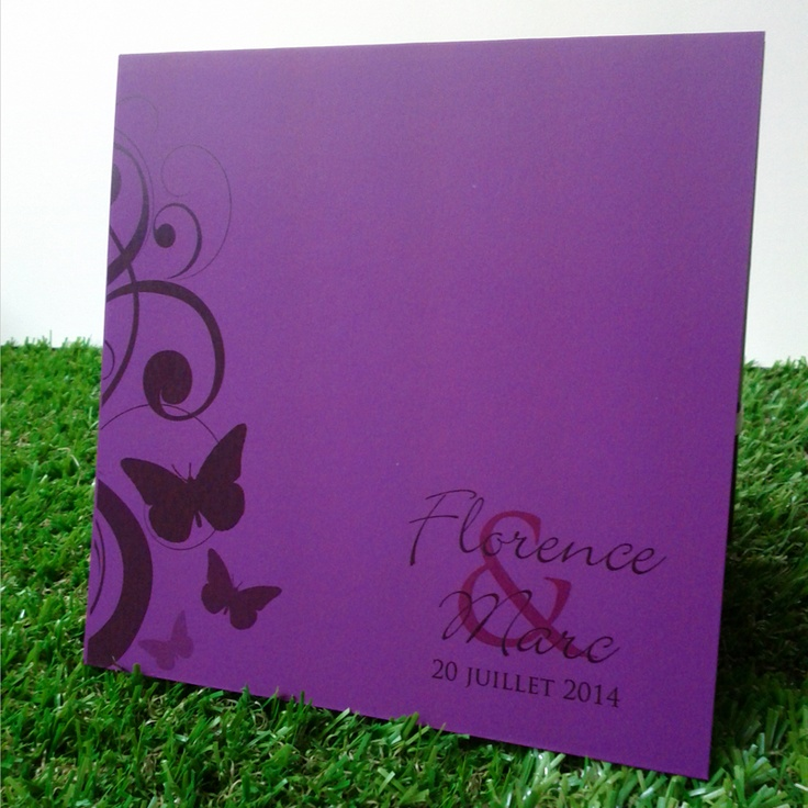 19 best faire part classique images on pinterest violets purple wedding and wedding stationery. Black Bedroom Furniture Sets. Home Design Ideas
