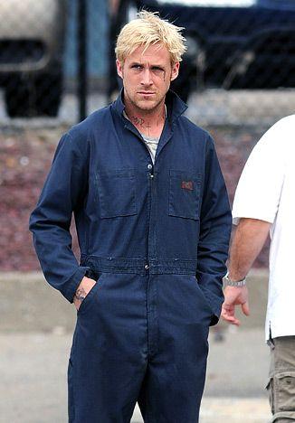 Ryan Gosling works hard in Dickies