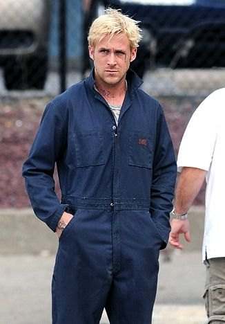 Ryan Gosling works hard in Dickies