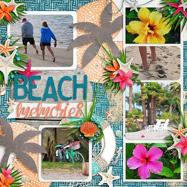 Beach Memories Kit: Tropical Paradise by LDrag Designs Template: Tropical Paradise: Volume 2 Templates by LDrag Designs