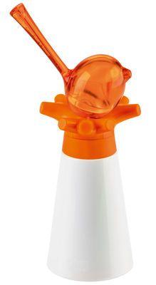Moulin à poivre PI:P / Set moulin à poivre + salière-oiseau Blanc / Salière orange - Koziol - Décoration et mobilier design avec Made in Design
