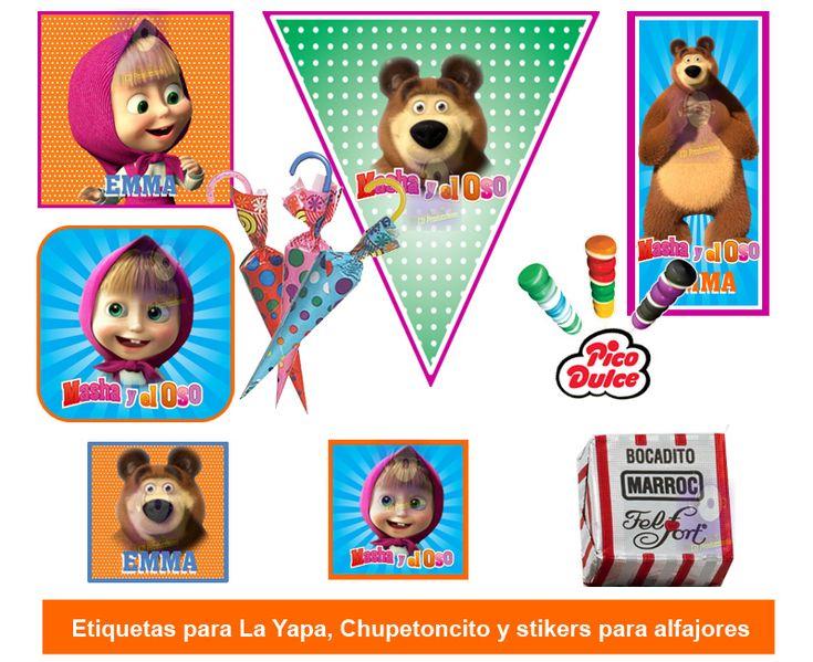 masha y el oso decoracion de fiesta - Buscar con Google