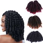 20 Strands Sythetic Wand Curly Crochet Twist Burgundy Braids Hair Extension mzus