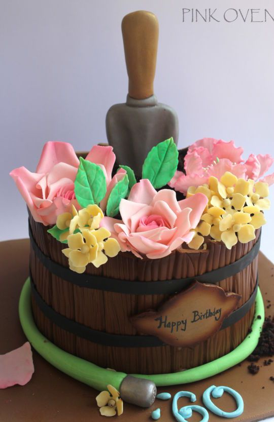 Spring Flower pot birthday cake