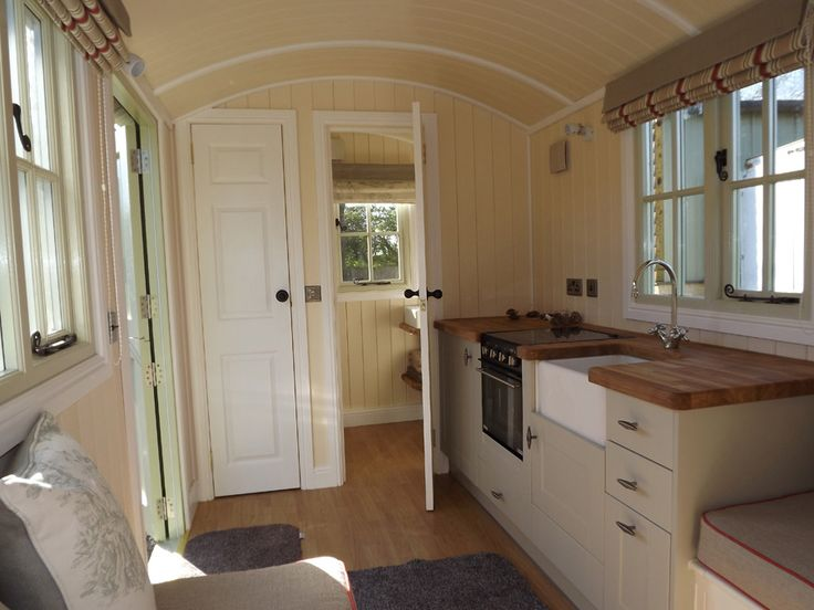 A traditionally-designed shepherds hut in Worcestershire, England. Designed by Riverside Shepherd Huts.
