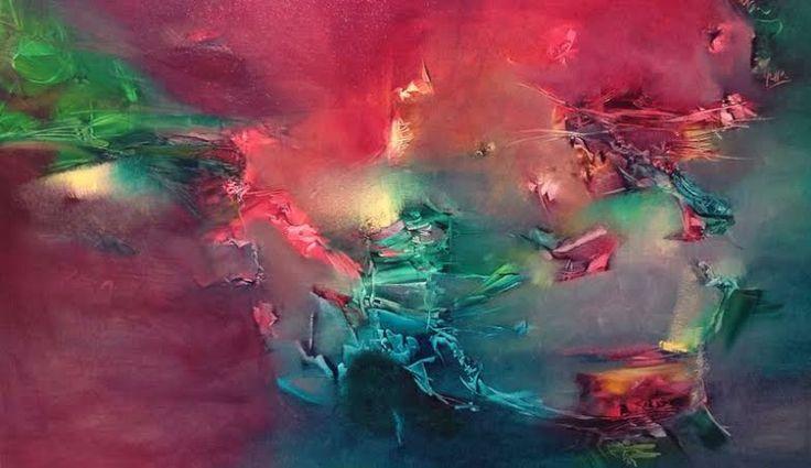 """Una soledad tan concurrida"" - Paula Barbella - Oleo sobre tela - 80 x 120 cm  www.esencialismo.com"