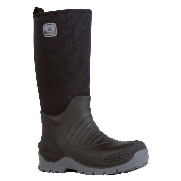 Kamik Men's Bushman Rubber Work Boots, Black