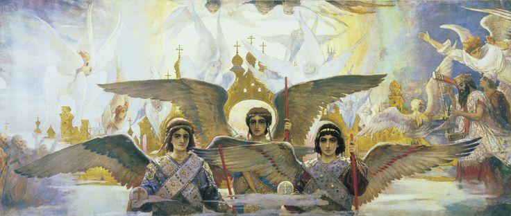Художник: Виктор Васнецов (Viktor Vasnetsov) Радость праведных о Господе. Предверие рая примерно 1885—1896 года Холст, масло