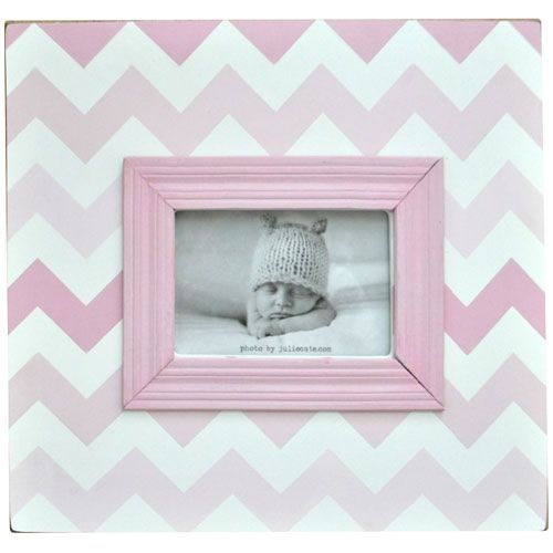 Ombre Chevron Picture Frame in Shades of Pink from PoshTots
