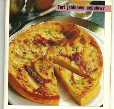 Яблочно-луковый пирог (Польская кухня)