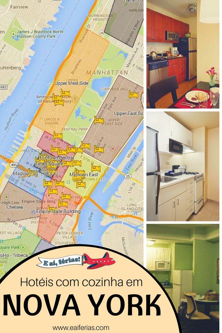 Hotéis com cozinha em Nova York, ideal para famílias e para aqueles que querem economizar na sua próxima viagem