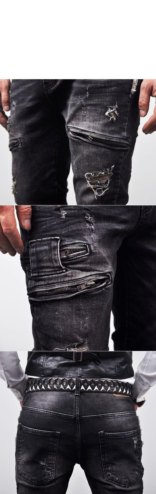 Vintage Hardcore Slim Zipper Biker-Jeans 98 - GUYLOOK