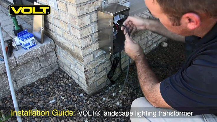 VOLT® University | low voltage landscape lighting transformer installation