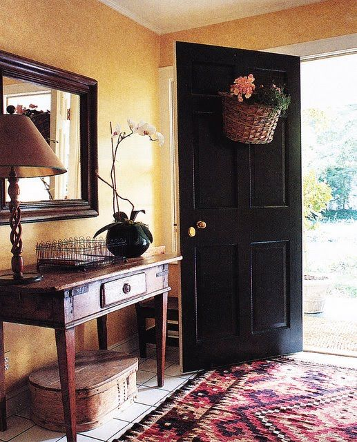 Country Home Foyers : Foyer englsih decorating country homes welcome note