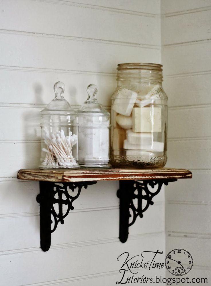 Best 25 farmhouse toilet accessories ideas on pinterest for Bathroom apothecary jar ideas