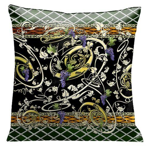 Lavender throw #pillows can make any room feel more inviting,  comfortable and relaxing. Naturally so as light #purple throw pillows evoke  feelings of tranquility and peace.  Moreover, lavender accent pillows look absolutely amazing in bedrooms,  living rooms and the office.       Lama Kasso Como Gardens Golden Grape Vines with Purple