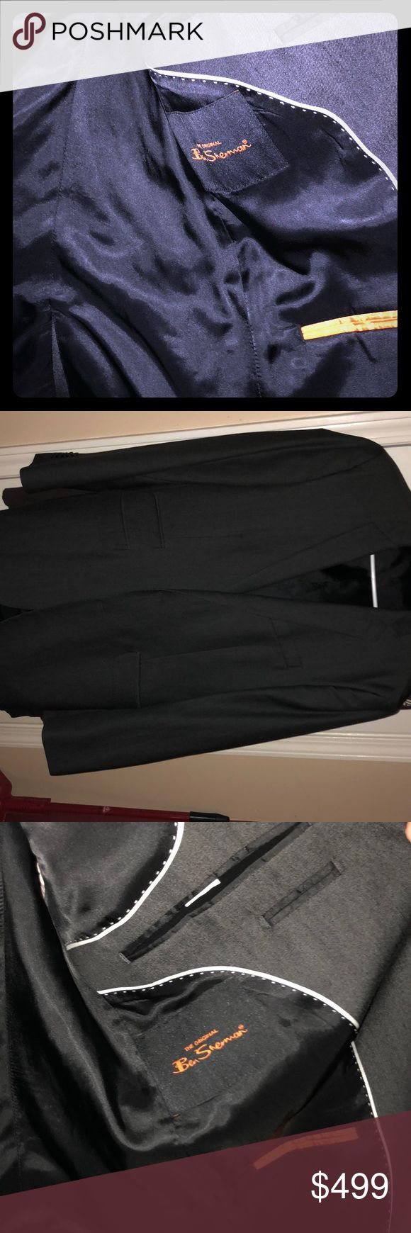 "Ben Sherman suit tailored 42L jacket with 32"" pant nwot ben Sherman men's suit jacket and pants perfect condition Ben Sherman Suits & Blazers Suits"