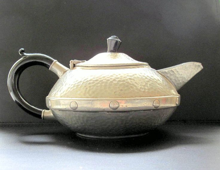 Arts and Crafts Early 20th century Sheffield Pewter Teapot by Craftsman by BountyFromThePast on Etsy