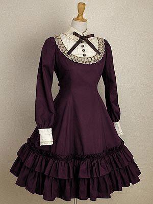 Mary Magdalene Plum Lolita Dress