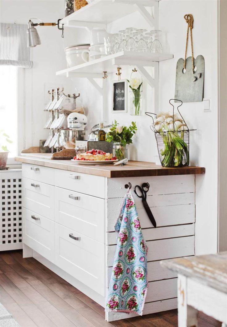 IKEA shelf brackets, base cabinets, countertop.