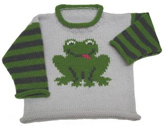 Froggy Pullover pattern by Gail Pfeifle, Roo Designs
