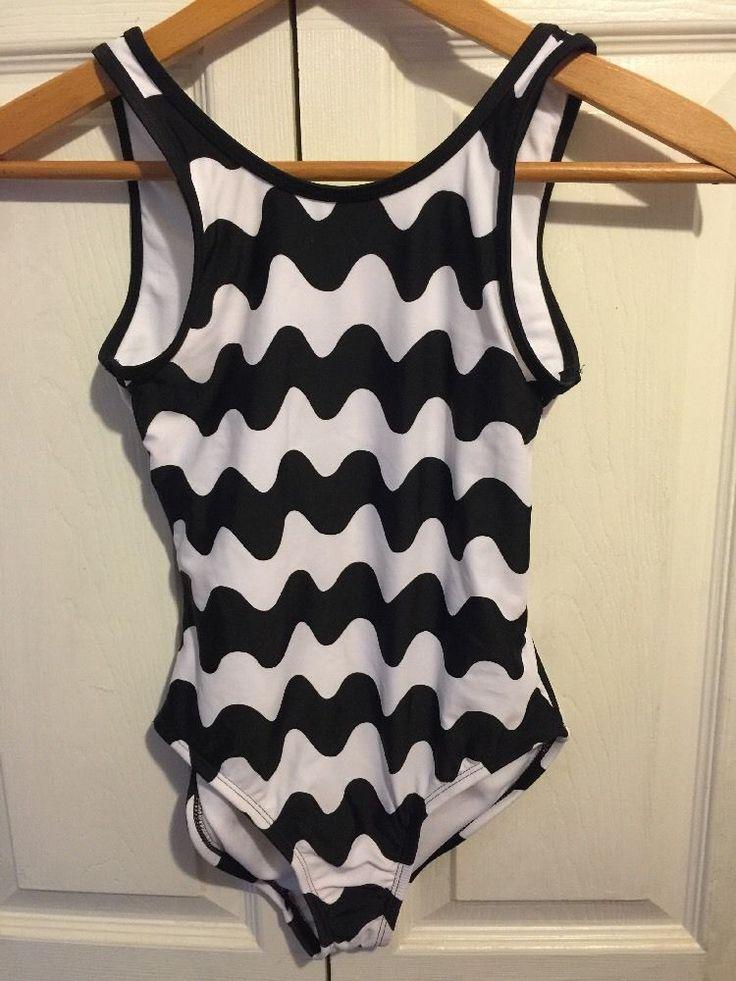Marimekko For Target girls L Swim Suit Black White Lokki New 10/12 #Marimekko #Swimsuit