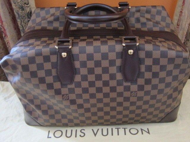 Authentic Louis Vuitton Damier Canvas Vaslav Weekender. Made in Italy #LouisVuitton