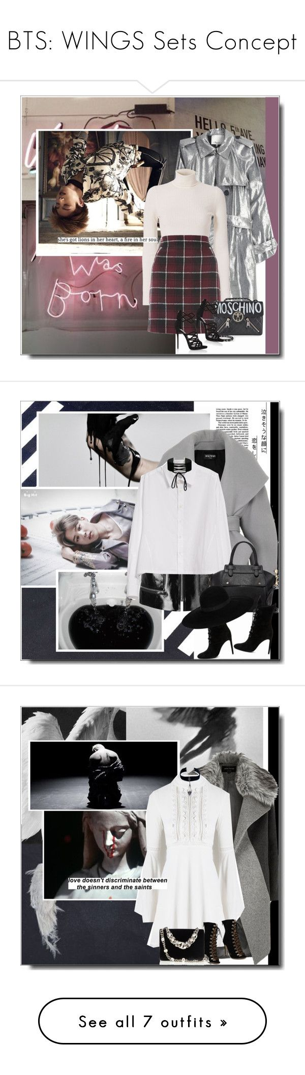 """""""BTS: WINGS Sets Concept"""" by itshandra ❤ liked on Polyvore featuring ban.do, 3.1 Phillip Lim, A.L.C., Moschino, Giuseppe Zanotti, fallsweaters, Balmain, Isabel Marant, Y's by Yohji Yamamoto and Kendall + Kylie"""