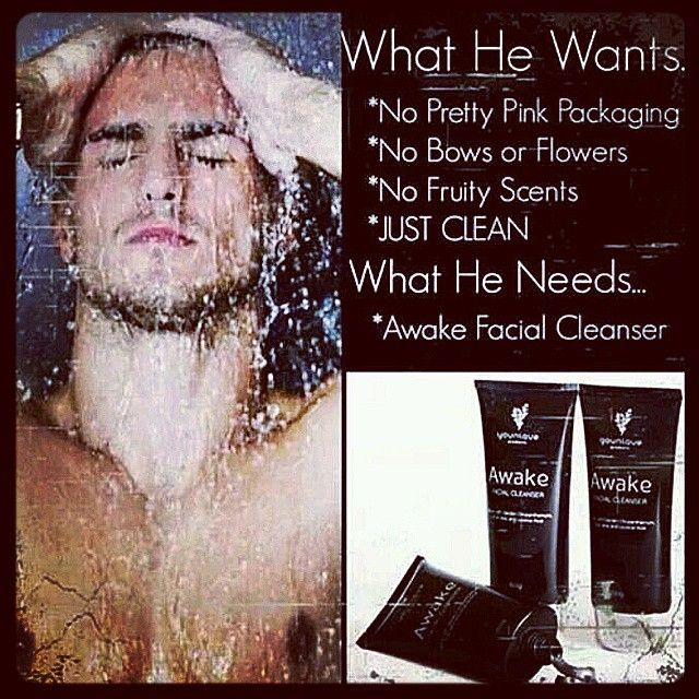 "Just for ""him"" because he knows what ""he"" wants! ;) Awake Facial Cleanser! Natural, sexy, clean and cool! Everything he wants and nothing he doesn't want! Give him what he deserves! *********************************************************www.shortygotlonglashes.com"