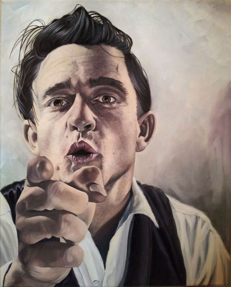 Johnny Cash by Scott Mitchell  Looks like my Tommy